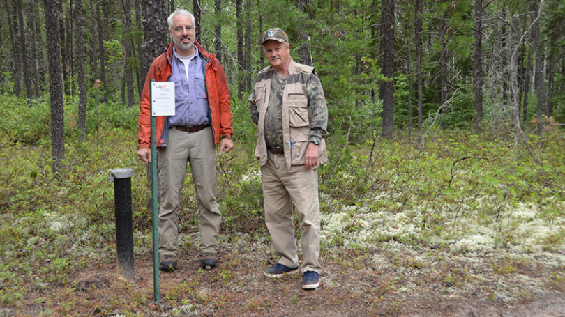 Jeannot Theberge and Remy Belanger at Ministry Water Well on Property